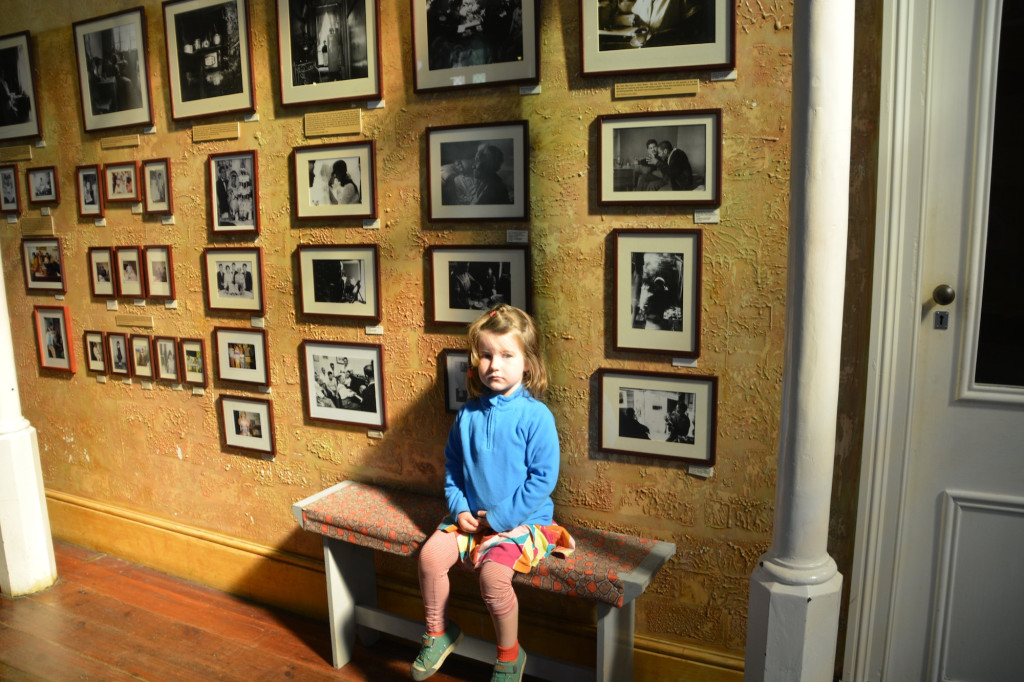 Eilir sitting proper at the District 6 Museum, Cape Town
