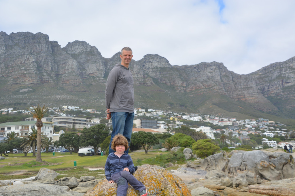Staffan and Phineas at Camps Bay