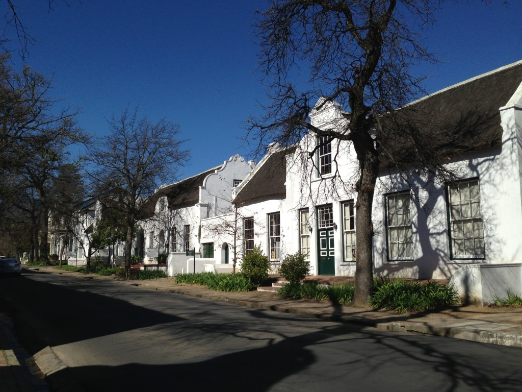 Cape Dutch architecture in Stellebosch