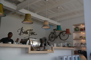 Another fantastic Cafe!  With fashionable Bike.