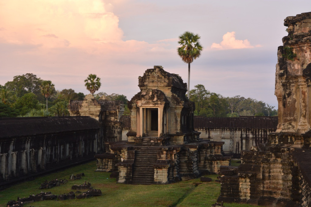 Angkor Wat inner courtyard at dawn