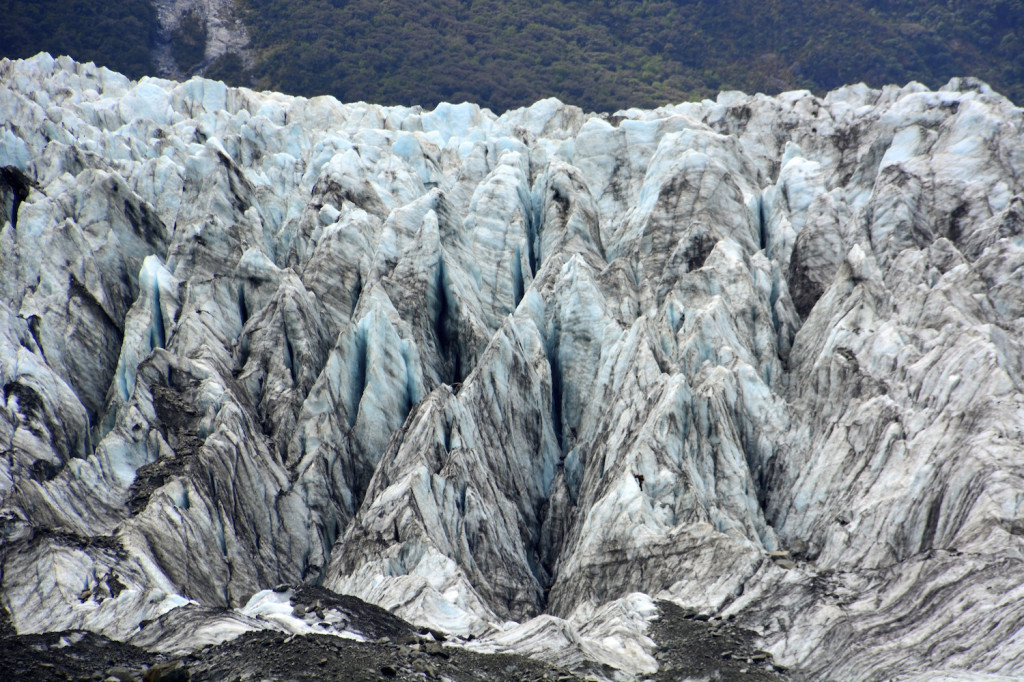Up close view of the glacier calving face from our ground-based hike in